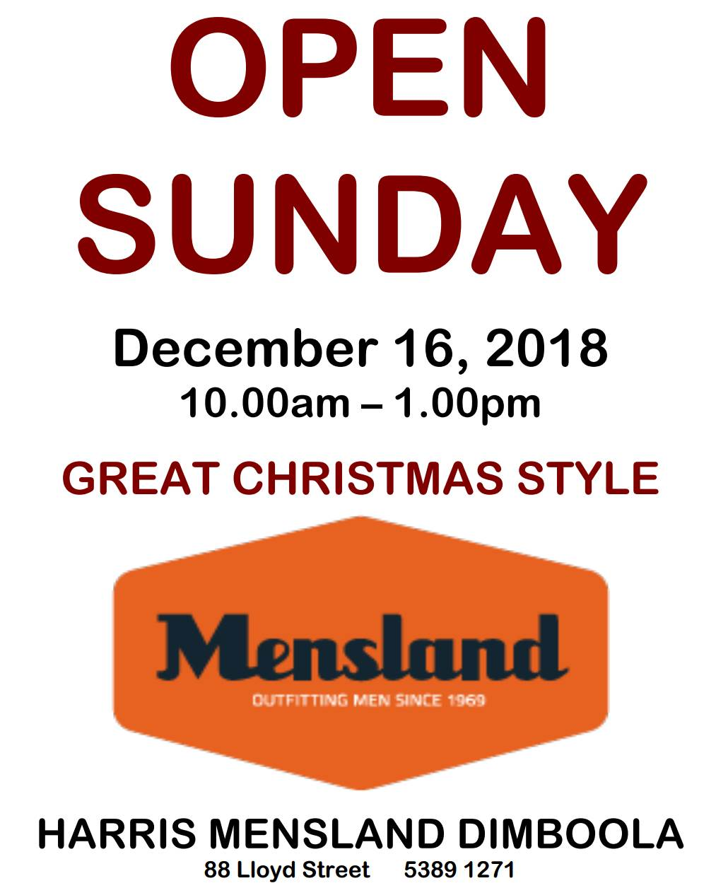 Mensland Open Sunday