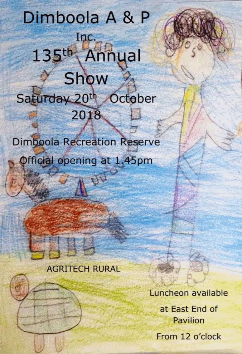 2018 Dimboola Show Flyer