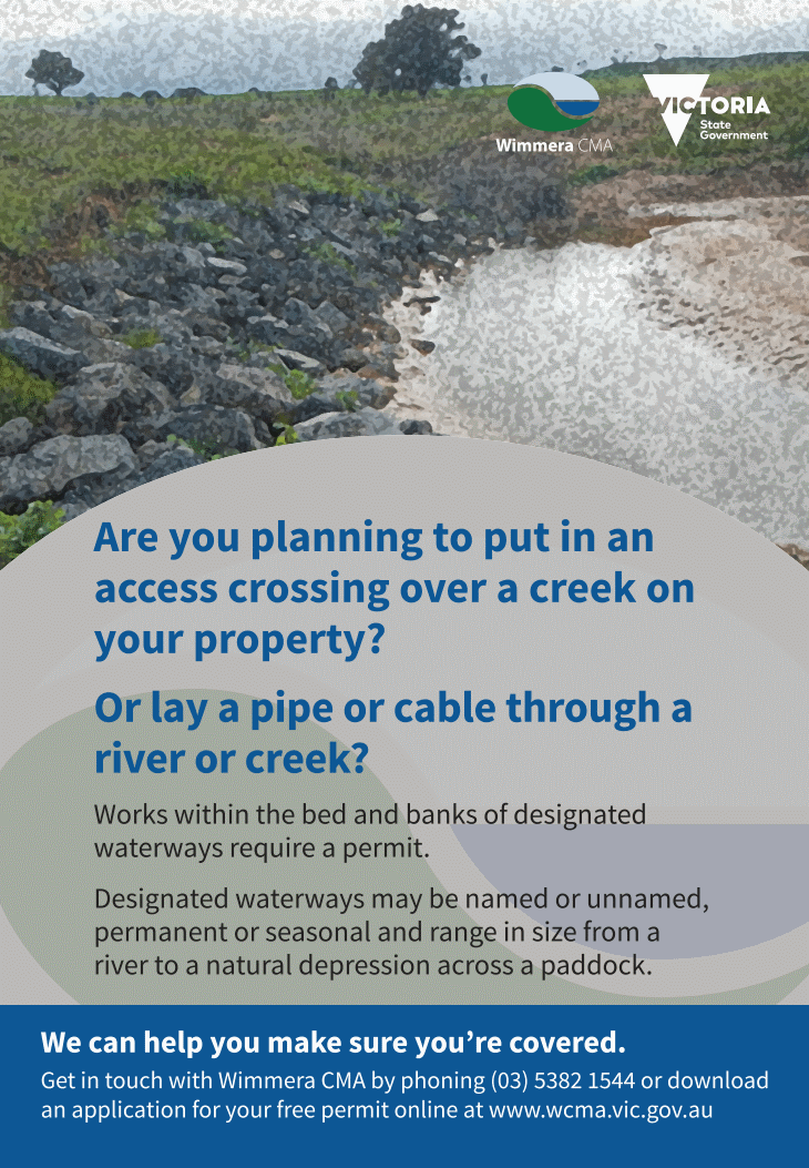 Wimmera CMA Works on Waterways