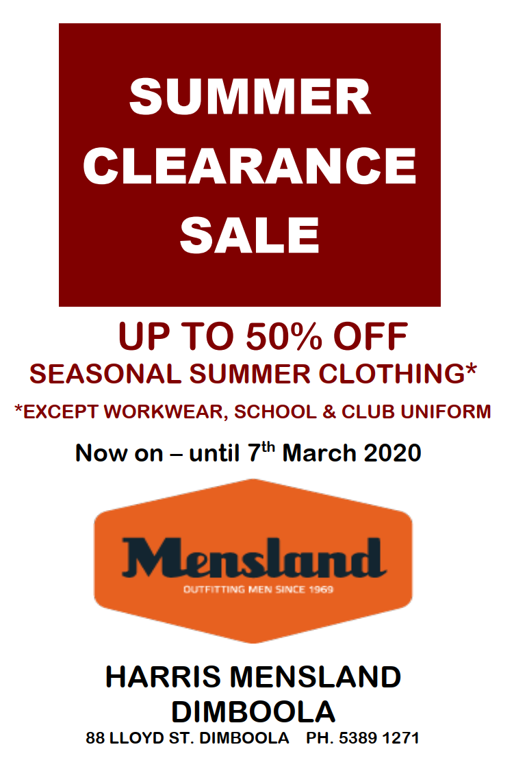 Mensland Summer Clearance Sale on now!
