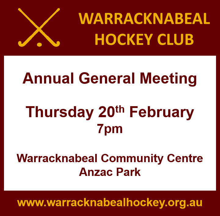 Warracknabeal Hockey Club AGM