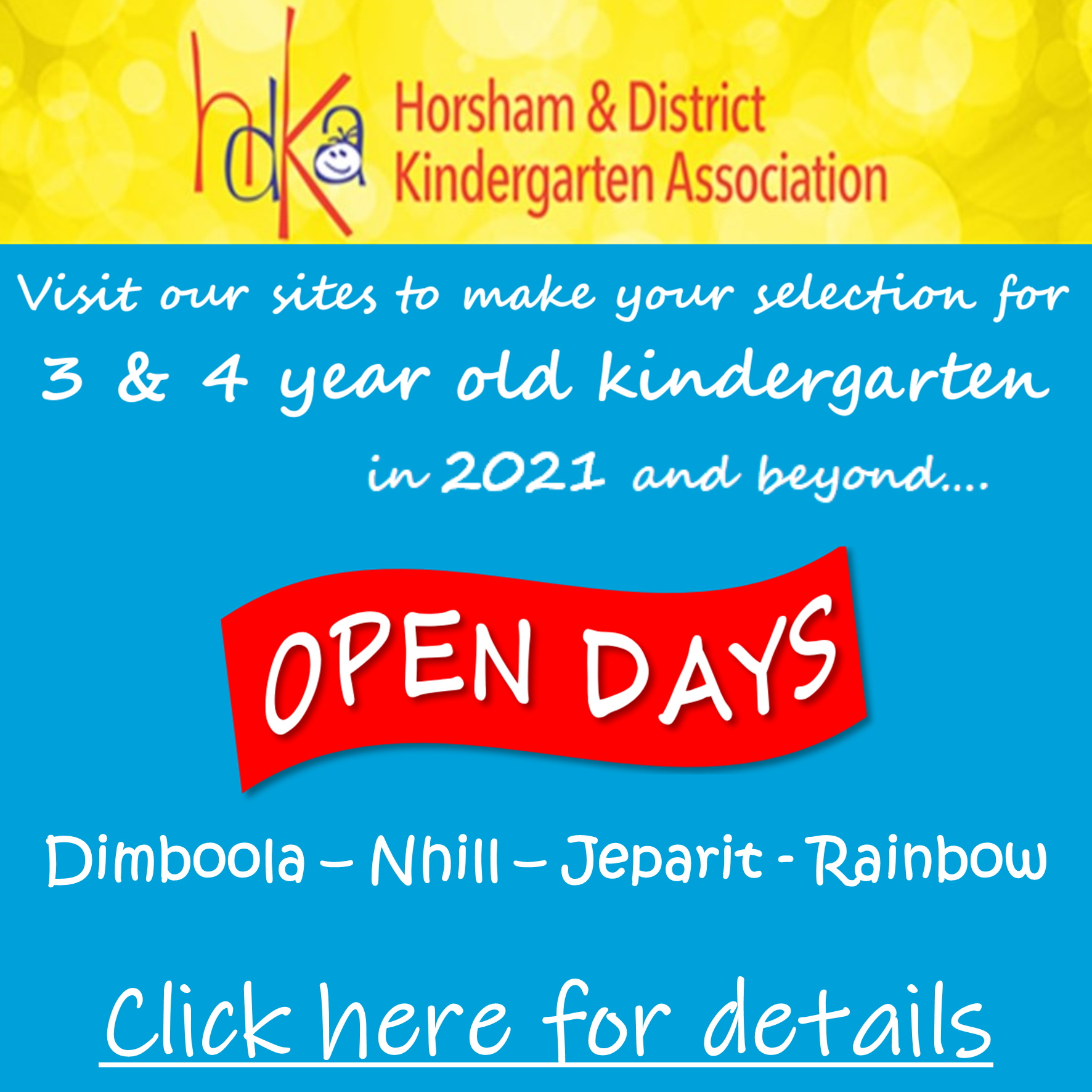 Kindergarten Open Days