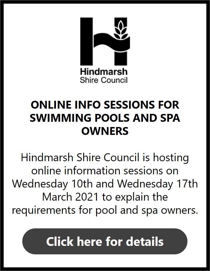 Hindmarsh Shire Council Swimming Pool and Spa Info Sessions