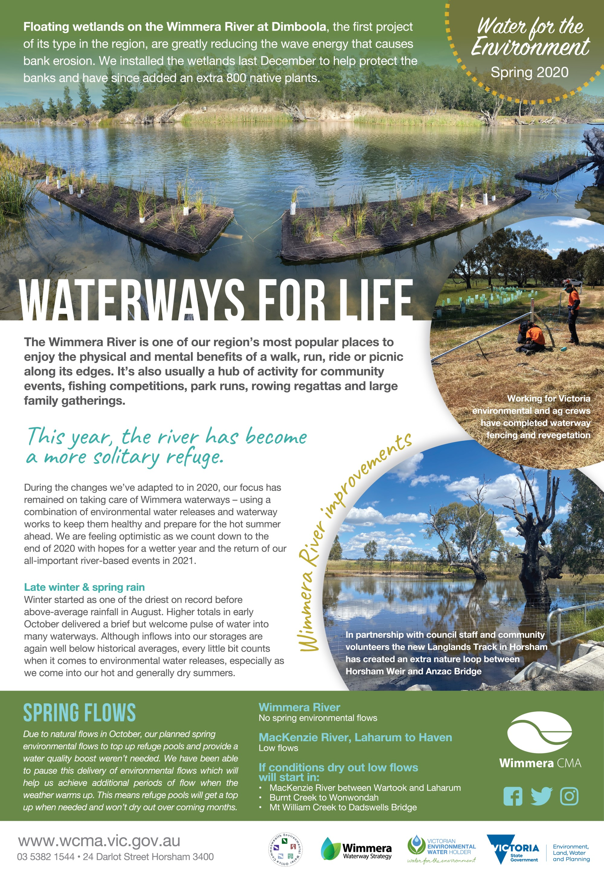 WCMA Spring Water for the Environment Update