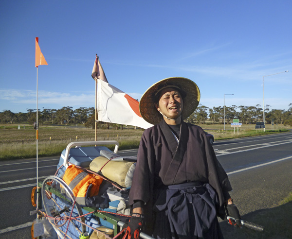 Japanese cross-country walker at Dimboola