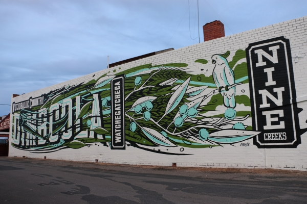 Final touches put on Dimboola mural