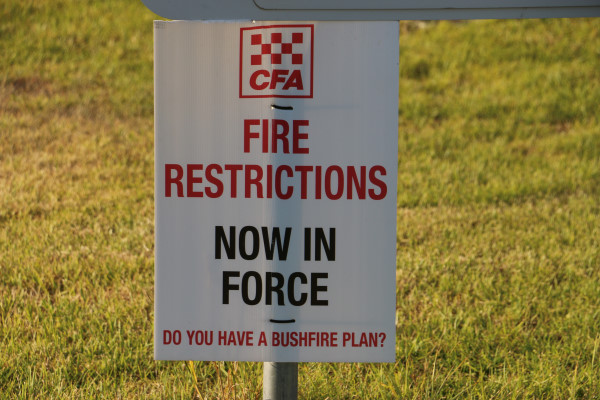 Fire restrictions in Hindmarsh to commence Monday