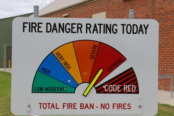 Total Fire Ban for entire state of Victoria today