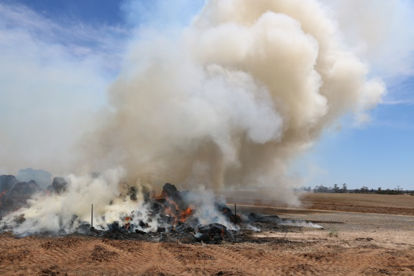 CFA issues warning on haystack fires