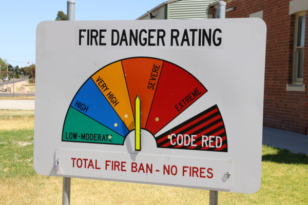 Total Fire Ban for Wimmera, Mallee, and Northern Country for Wednesday